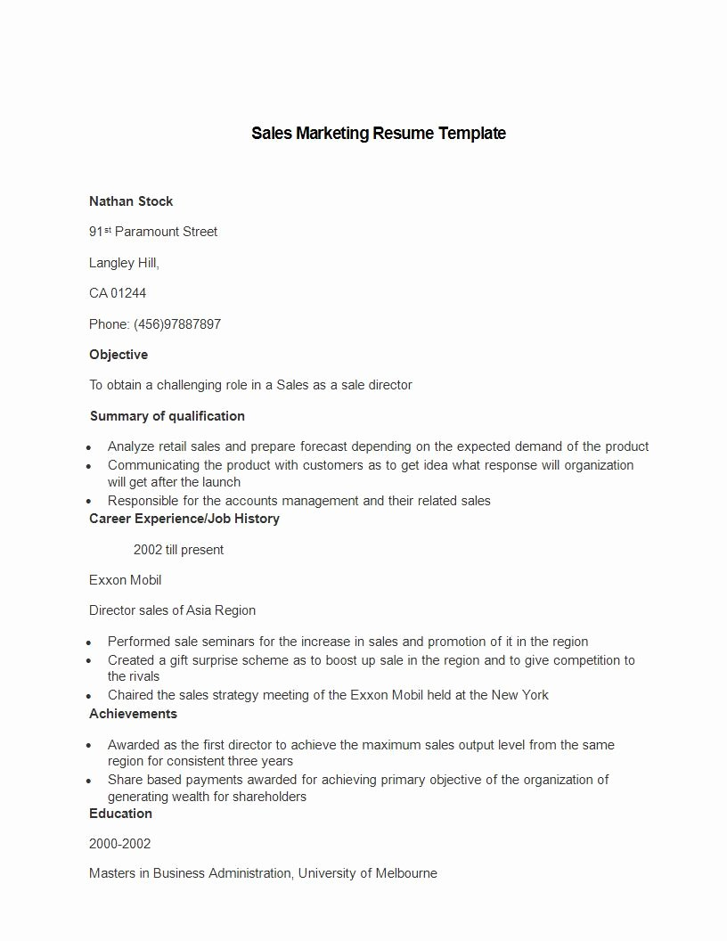 Sales and Marketing Resumes Samples New 21 Perfect Marketing Resume Templates for Every Job Seeker