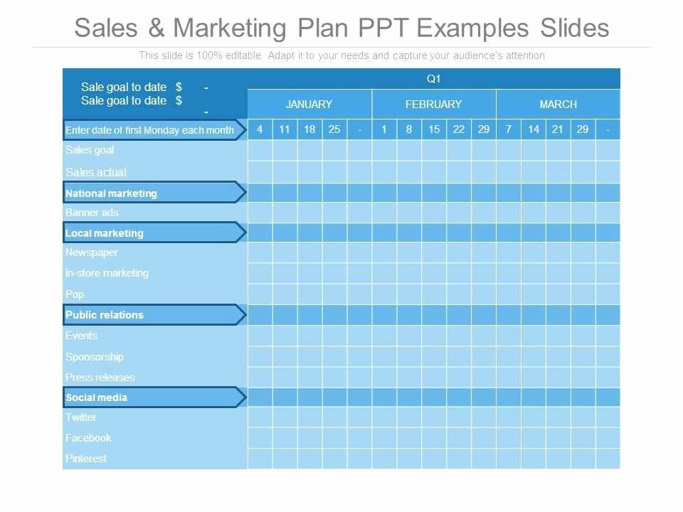 Sales Presentation Powerpoint Examples Beautiful Sales and Marketing Plan Ppt Examples Slides