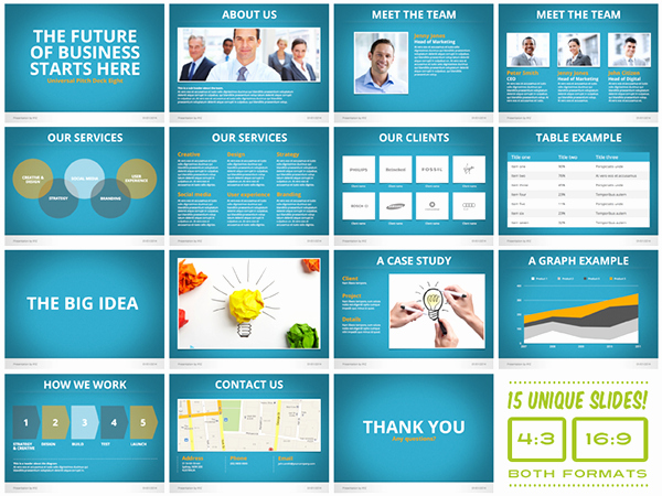 Sales Presentation Powerpoint Examples Best Of Universal Pitch Deck Eight Powerpoint Template On Behance
