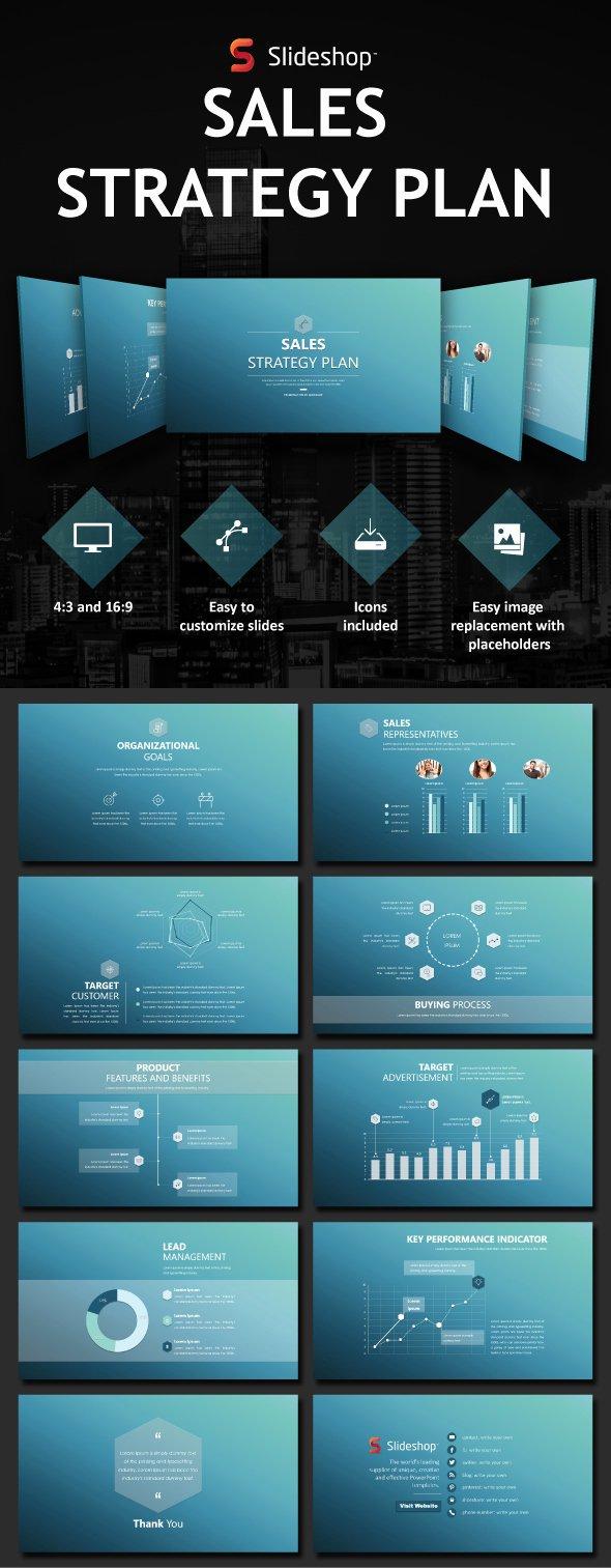 Sales Presentation Powerpoint Examples Elegant Sales Strategy Plan by Slideshop
