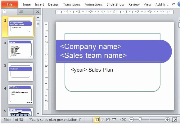 Sales Presentation Powerpoint Examples Fresh Yearly Sales Plan Templates for Powerpoint