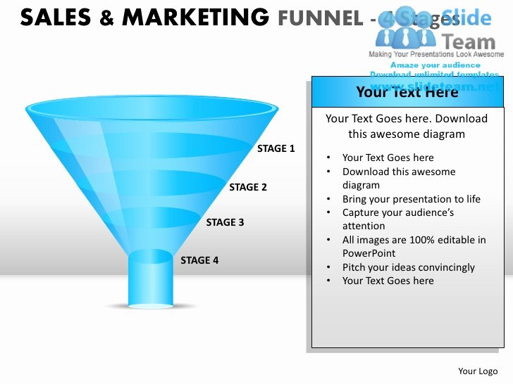 Sales Presentation Powerpoint Examples Unique Sales and Marketing Funnel 4 Stages Powerpoint