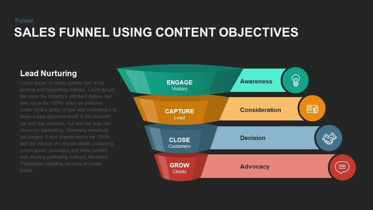 Sales Presentation Powerpoint Examples Unique Sales Funnel Powerpoint Template Using Content Objectives