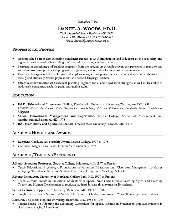 Sample Academic Curriculum Vitae Inspirational 1000 Ideas About Cv Resume Sample On Pinterest