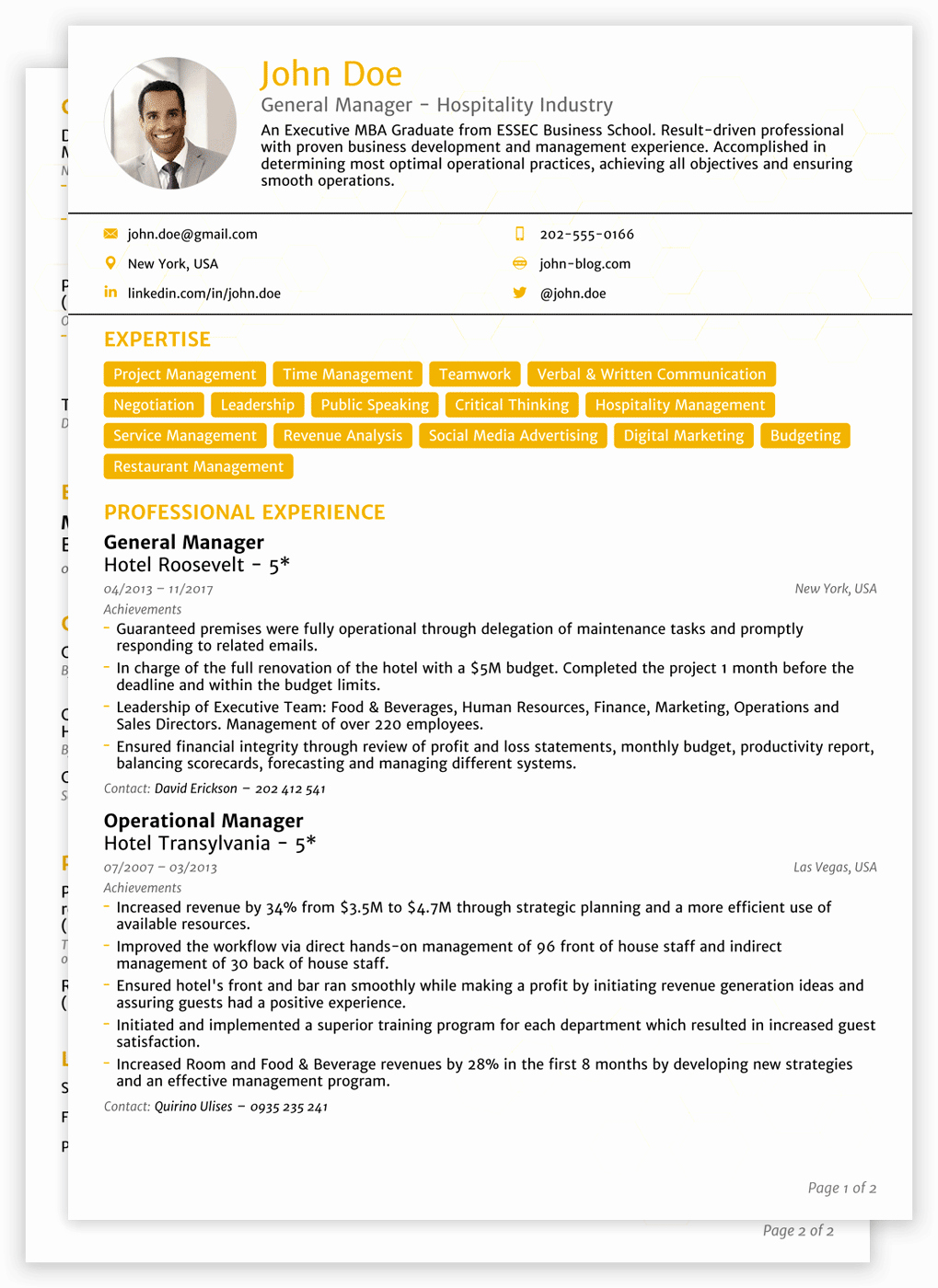Sample Academic Curriculum Vitae Lovely 8 Cv Templates for 2019 1 Edit & Download