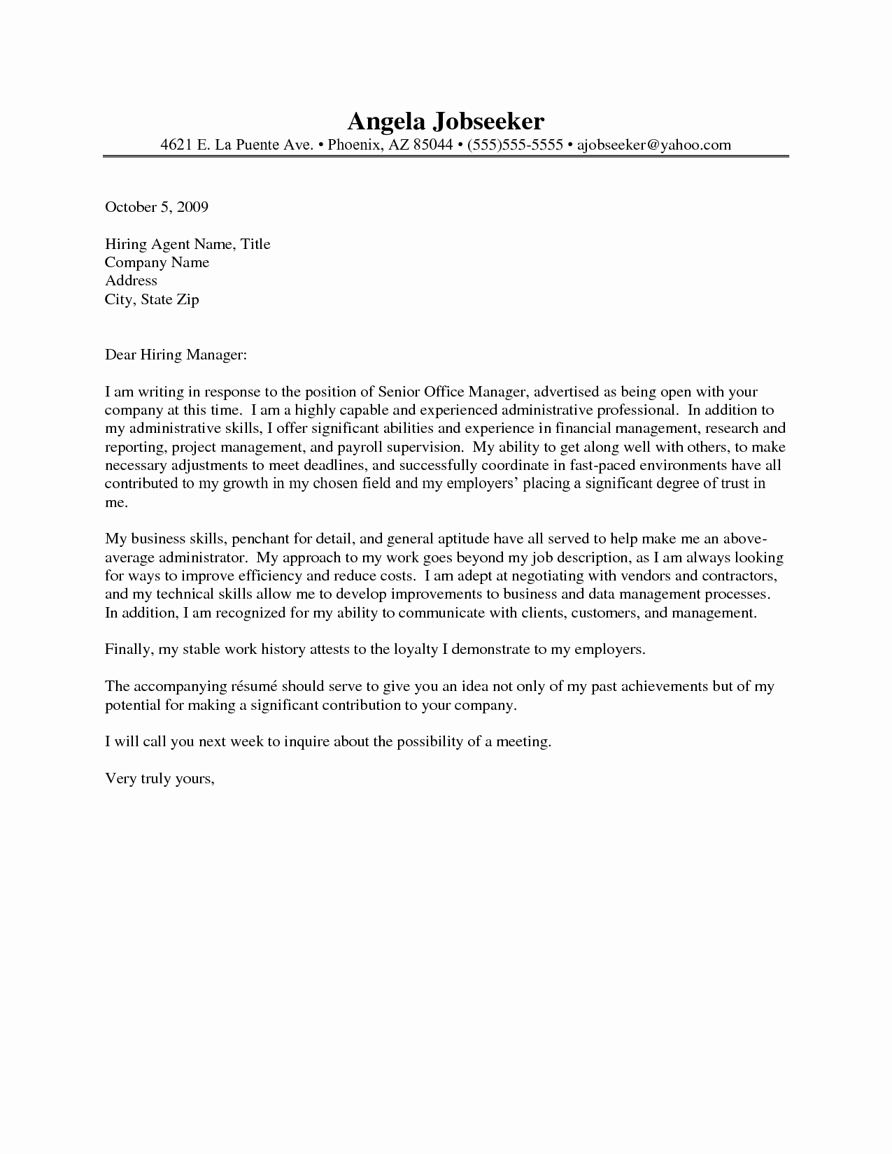 Sample Administrative Cover Letter Awesome Administrative assistant Cover Letters 2016