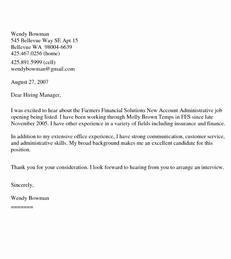 Sample Administrative Cover Letter Luxury Cover Letter Samples Download Free Cover Letter Templates