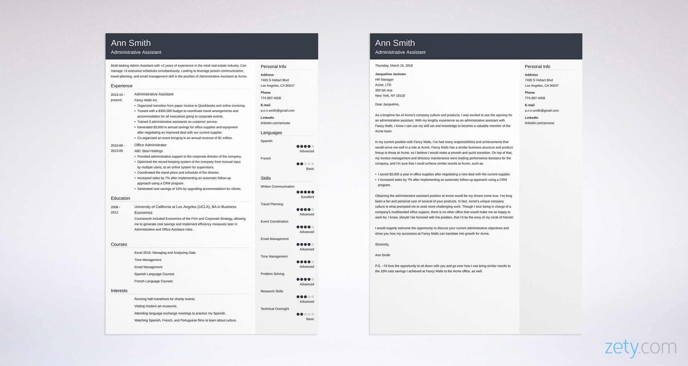 Sample Administrative Cover Letter Unique Administrative assistant Cover Letter Sample & Guide [20