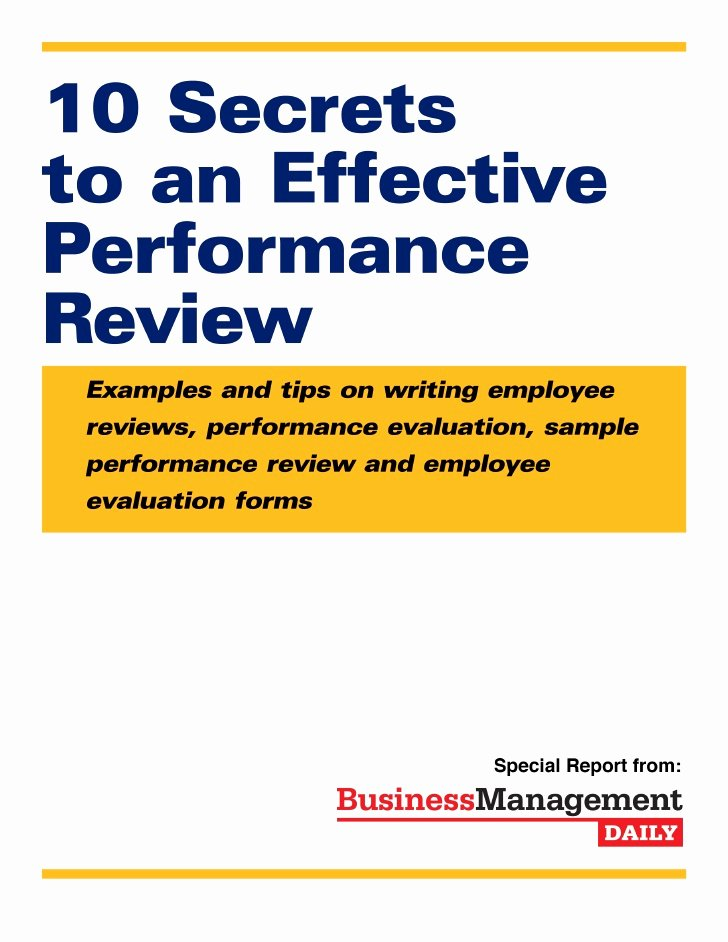 Sample Annual Performance Review Awesome Effective Performancereview