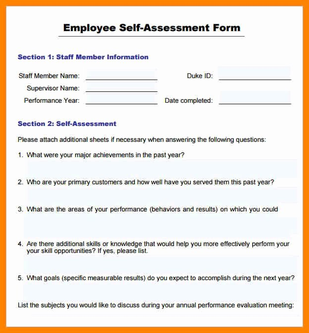 Sample Annual Performance Review Best Of Annual Performance Review Employee Self Evaluation