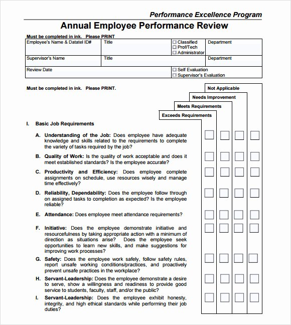 Sample Annual Performance Review New Performance Review Template 9 Download Free Documents