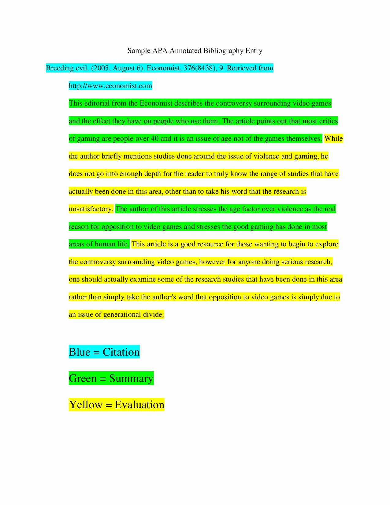 Sample Apa Annotated Bibliography Best Of Does An Annotated Bibliography Need A Conclusion
