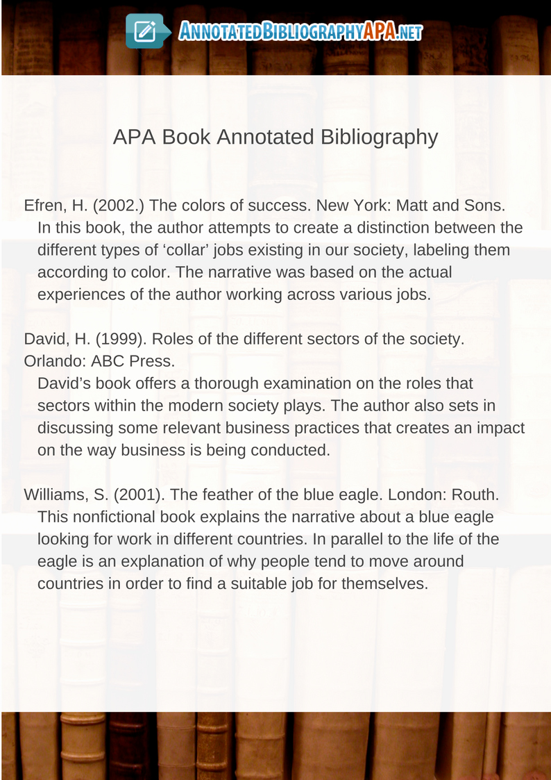 Sample Apa Annotated Bibliography Best Of Find the Best Annotated Bibliography Apa Example Here