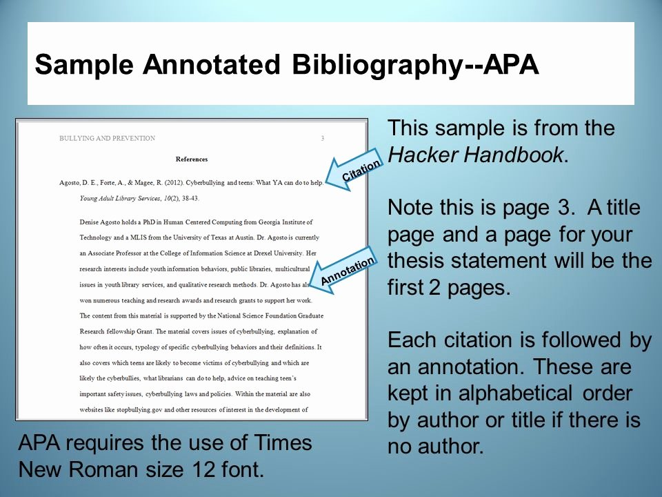 Sample Apa Annotated Bibliography Elegant Annotated Bibliography 2011 Apa