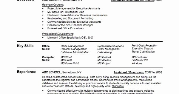 Sample assistant Principal Resume Awesome Entry Level assistant Principal Resume Templates
