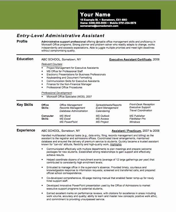 Sample assistant Principal Resume Beautiful Entry Level assistant Principal Resume Templates