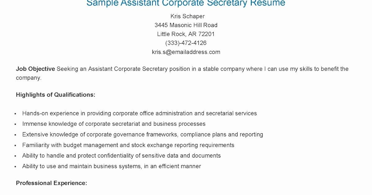 Sample assistant Principal Resume Elegant Resume Samples assistant Principal Secretary Resume Sample