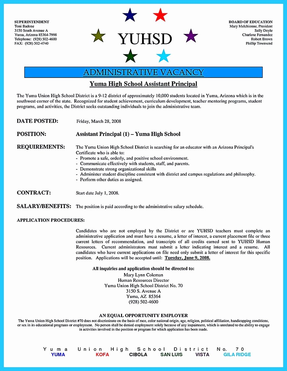 Sample assistant Principal Resume Lovely An Effective Sample Of assistant Principal Resume