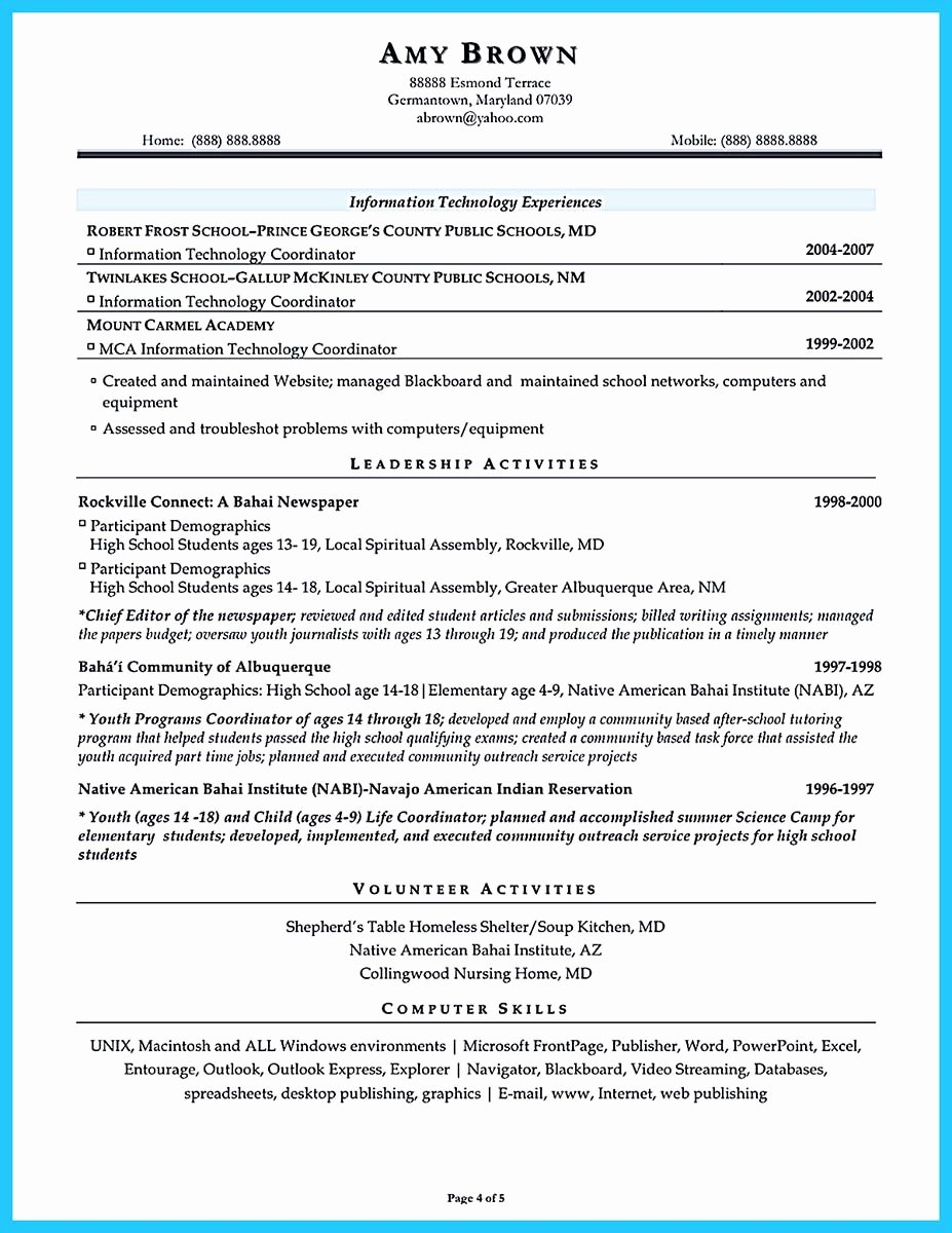 Sample assistant Principal Resume New An Effective Sample Of assistant Principal Resume