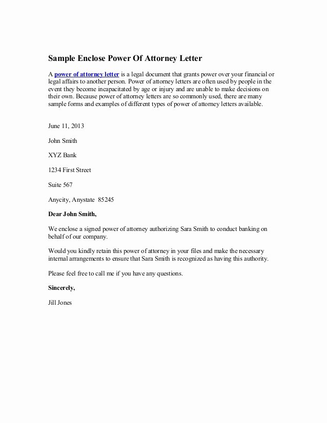 Sample attorney Termination Letter Lovely Sample Enclose Power attorney Letter