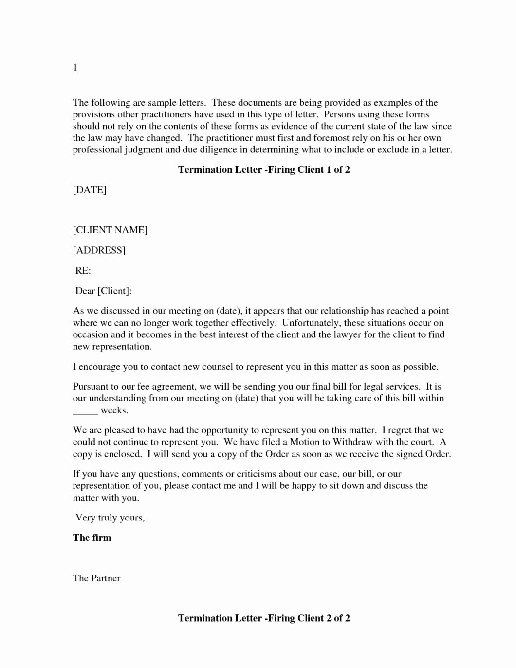 Sample attorney Termination Letter New Letter to Terminate attorney Representation