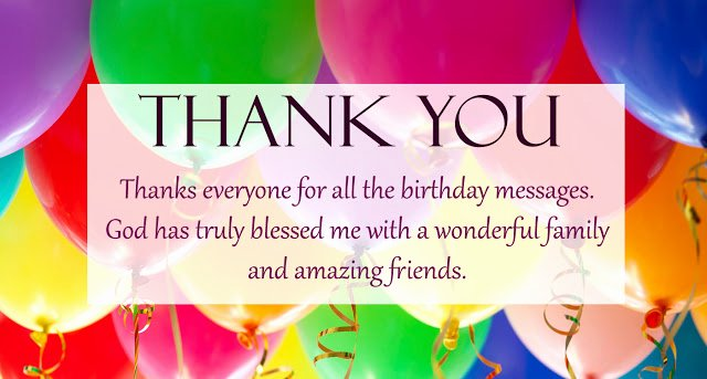 Sample Birthday Thank You Notes Best Of Thank You for the Birthday Wishes