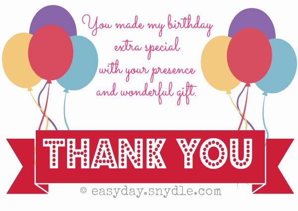 Sample Birthday Thank You Notes Elegant Birthday Archives Page 2 Of 4 Easyday