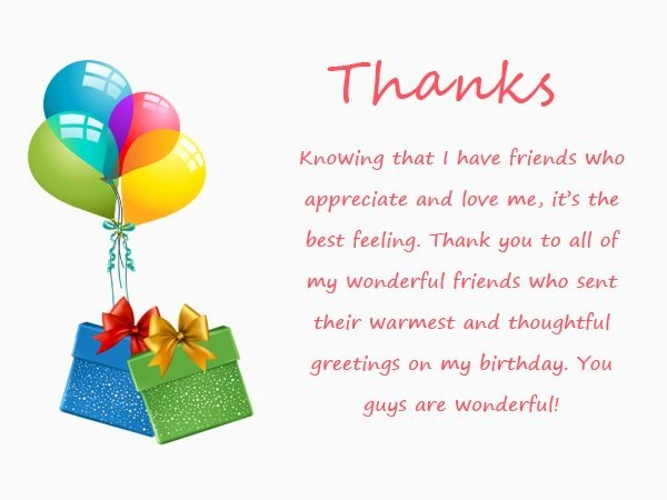 Sample Birthday Thank You Notes Elegant top 123 Ways to Thank You for Birthday Wishes & Messages
