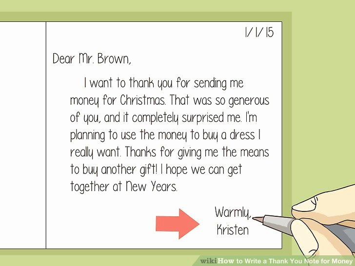 Sample Birthday Thank You Notes Lovely How to Write A Thank You Note for Money with Sample Thank