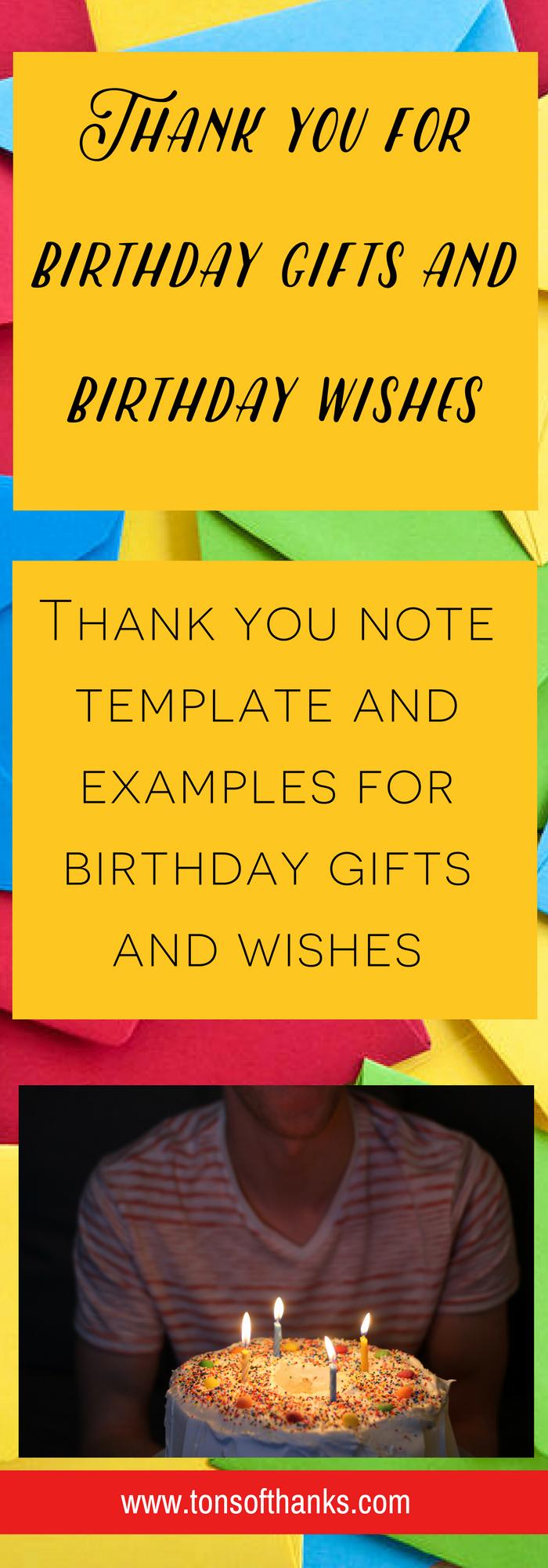 Sample Birthday Thank You Notes Luxury Thank You for the Birthday Wishes Thank You Note Examples