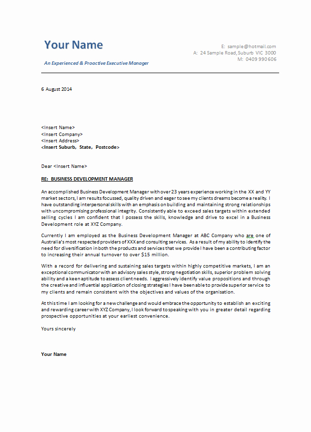 Sample Business Cover Letters Awesome Cover Letter Examples