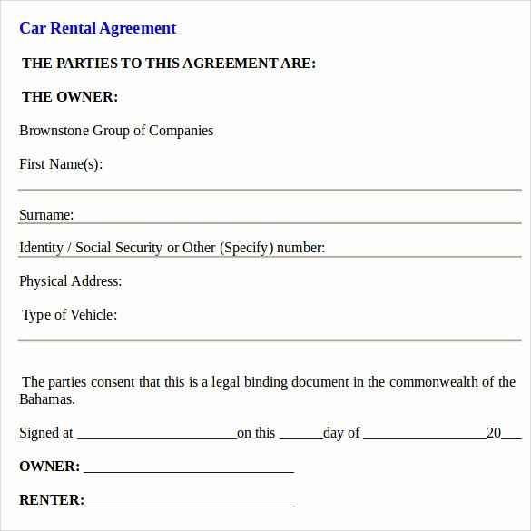 Sample Car Rental Agreements Luxury Car Rental Agreement Templates 12 Free Documents In Pdf