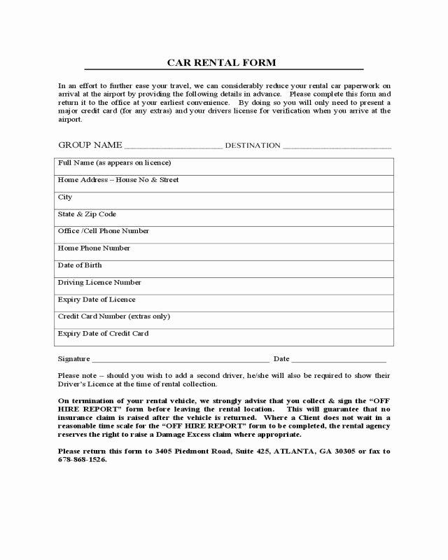 Sample Car Rental Agreements New Sample Car Rental Agreement form Basic 2018 Car Lease form