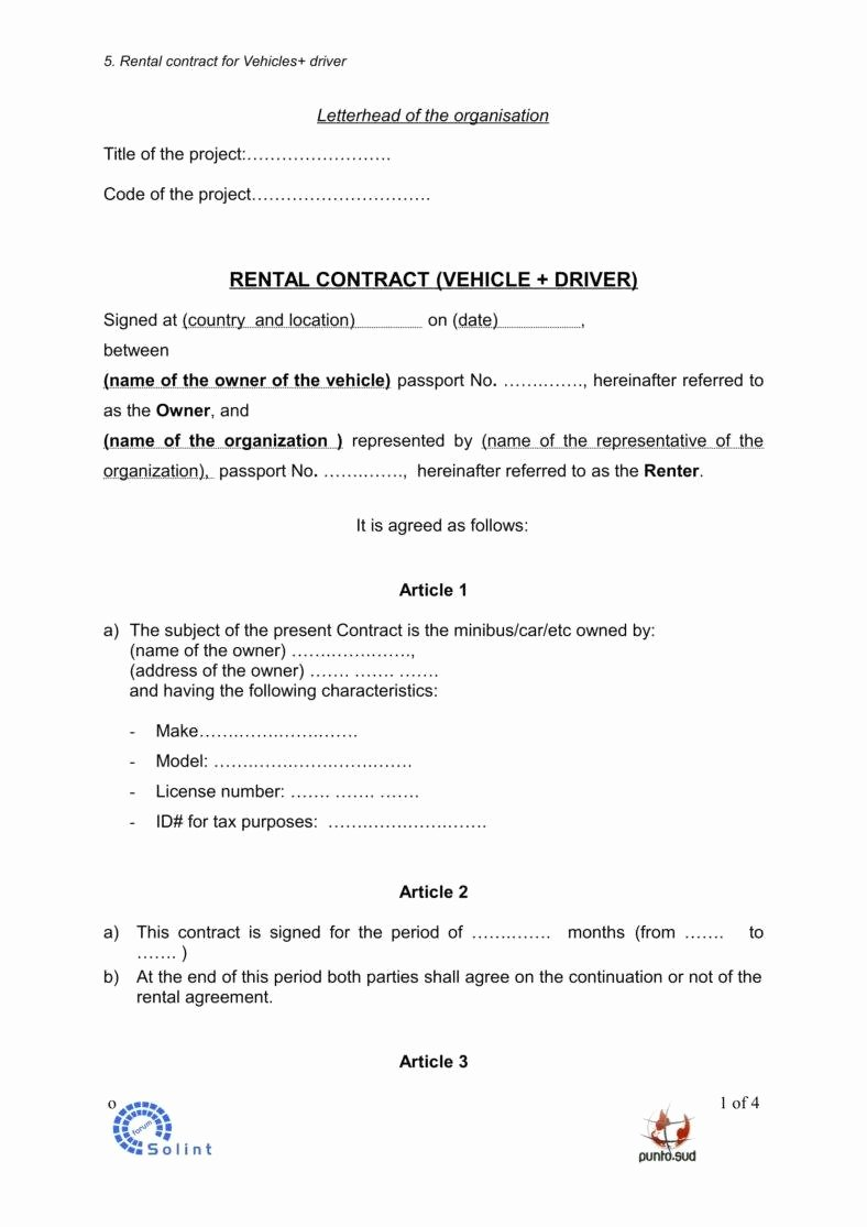 Sample Car Rental Agreements Unique 5 Car Rental Agreement Templates In Word