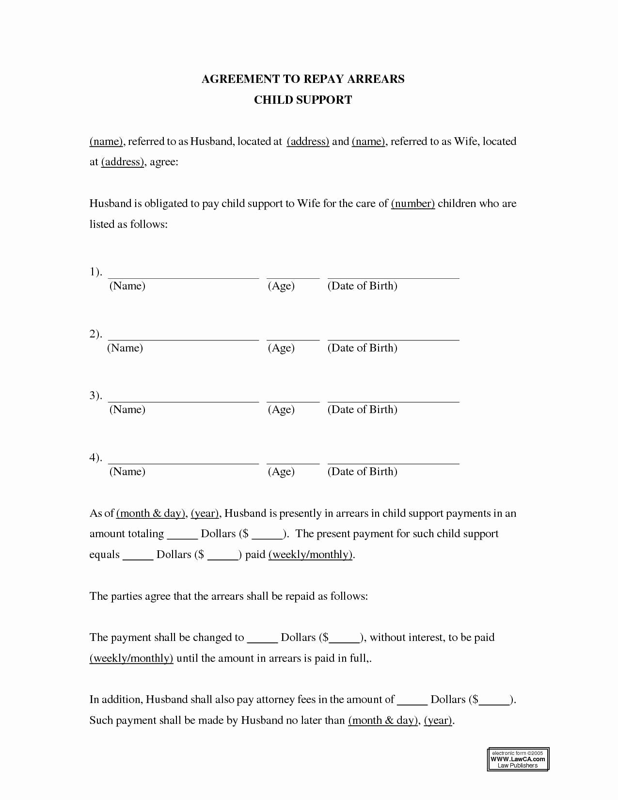 Sample Child Visitation Agreement Lovely Child Visitation Agreement Letter Exclusive Child Custody