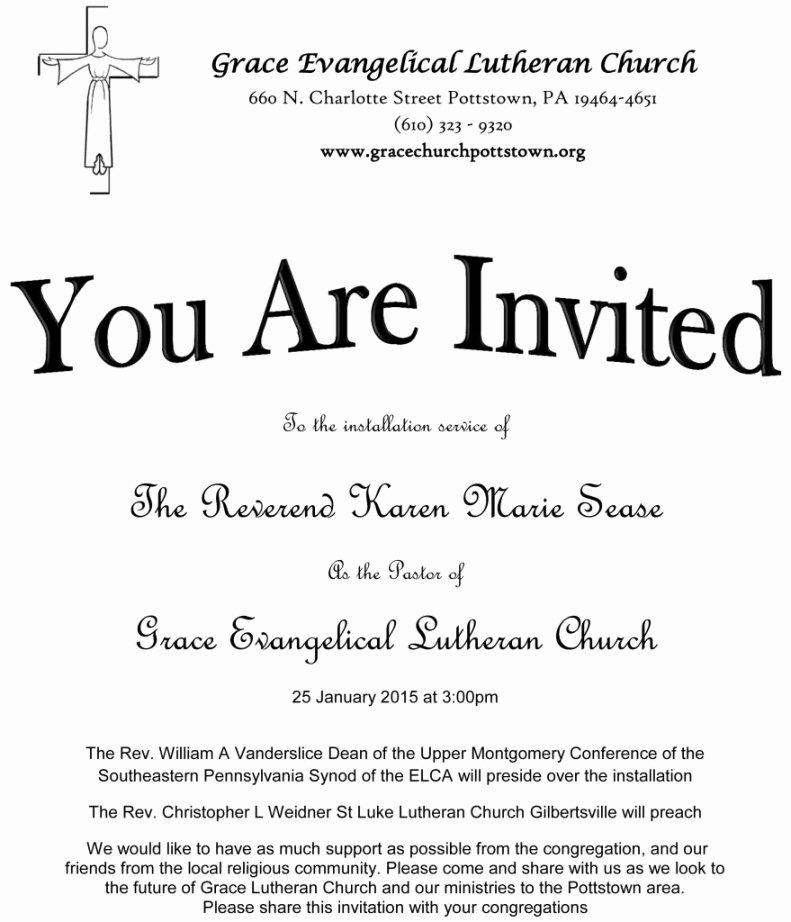 Sample Church Invitation Letter New Sample Invitation Letter for Church Anniversary