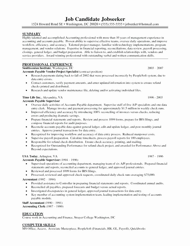 Sample Clerical Cover Letter Beautiful 14 15 Accounts Payable Cover Letter Example
