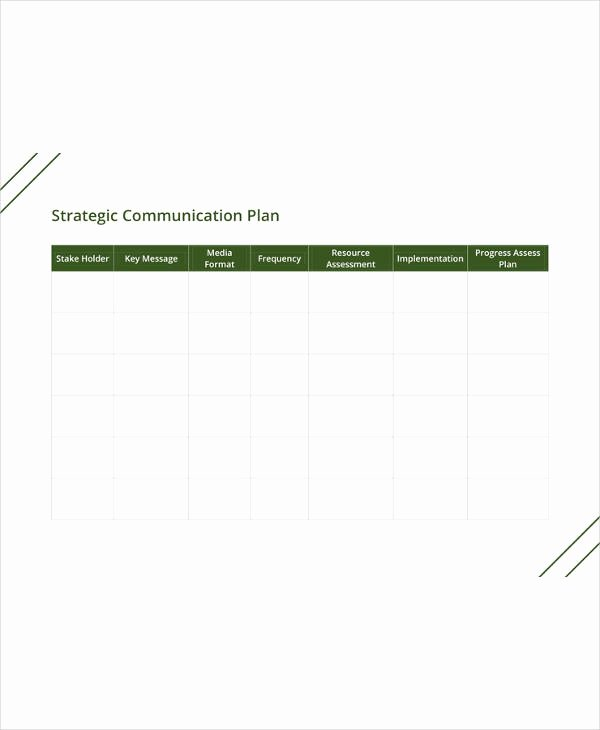 Sample Communications Plan Template Awesome 18 Munication Plan Templates Pdf Doc