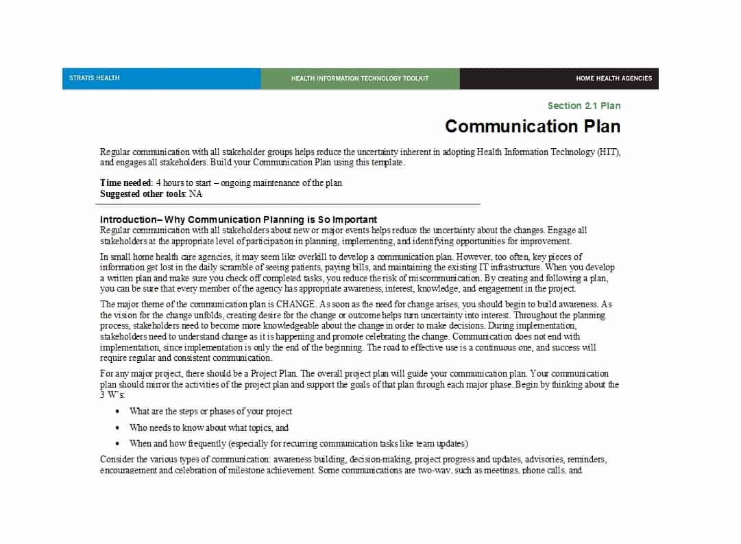 Sample Communications Plan Template Lovely 37 Simple Munication Plan Examples Free Templates