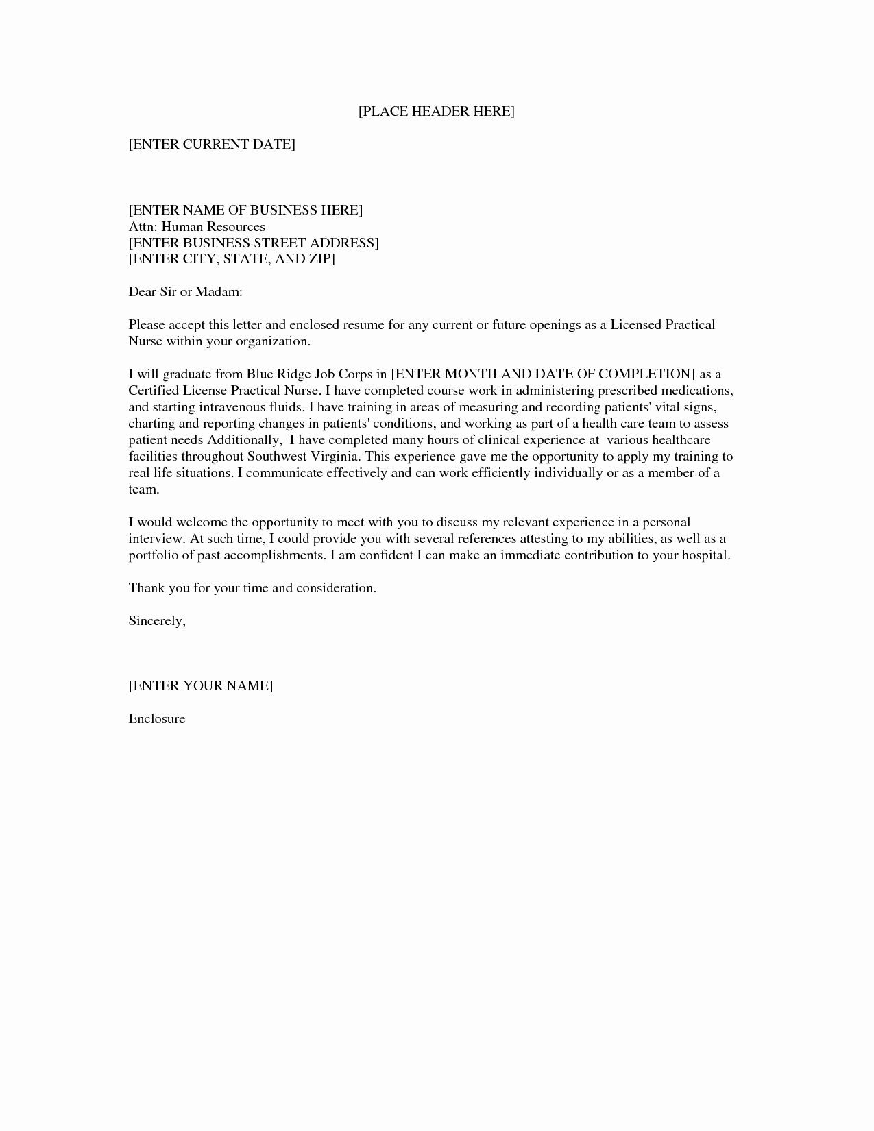 Sample Cover Letter for Nurse Luxury Lpn Nursing Cover Letter Sample