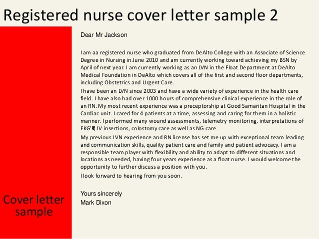 Sample Cover Letter for Nursing Awesome Registered Nurse Cover Letter