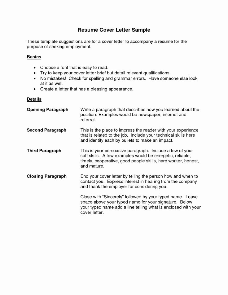 Sample Cover Letter Free Beautiful Cover Letter Resume Best Templatesimple Cover Letter