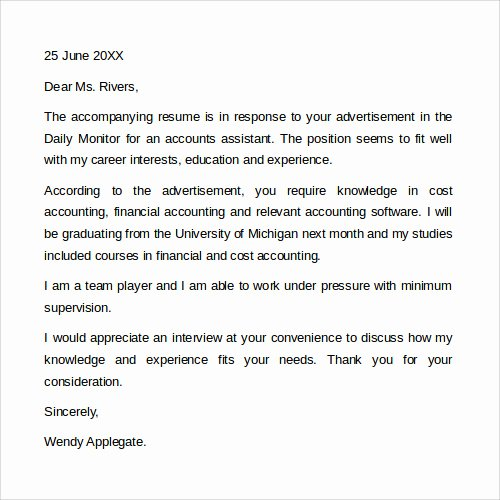 Sample Cover Letter Free Best Of Sample Cover Letter Template 19 Download Free Documents