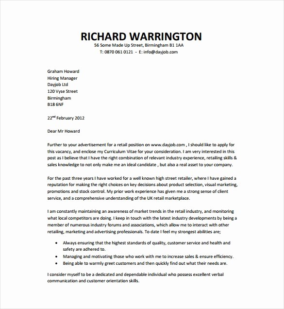Sample Cover Letter Free Inspirational 17 Professional Cover Letter Templates Free Sample