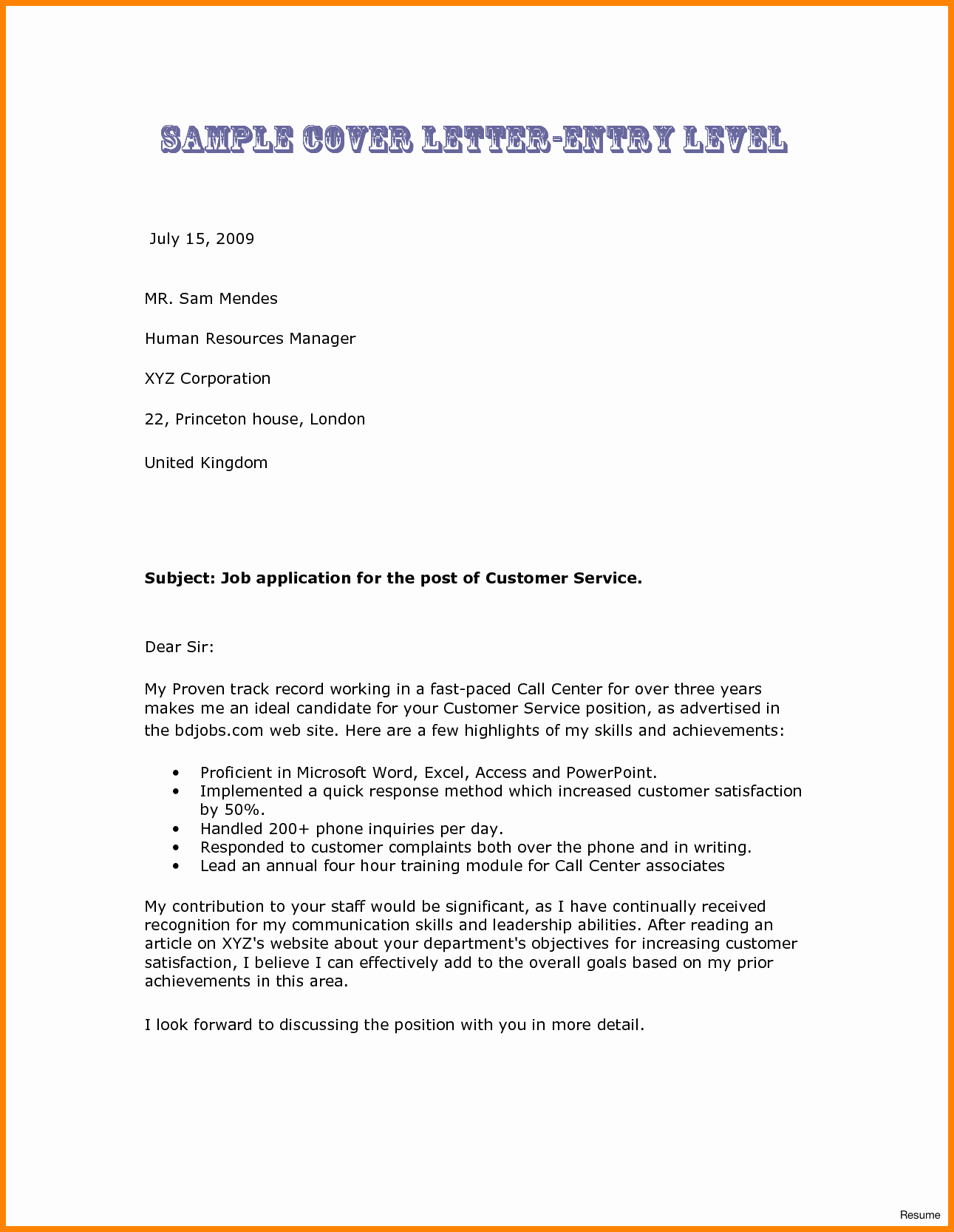 Sample Cover Letters Entry Level Unique 7 Entry Level Nurse Cover Letter