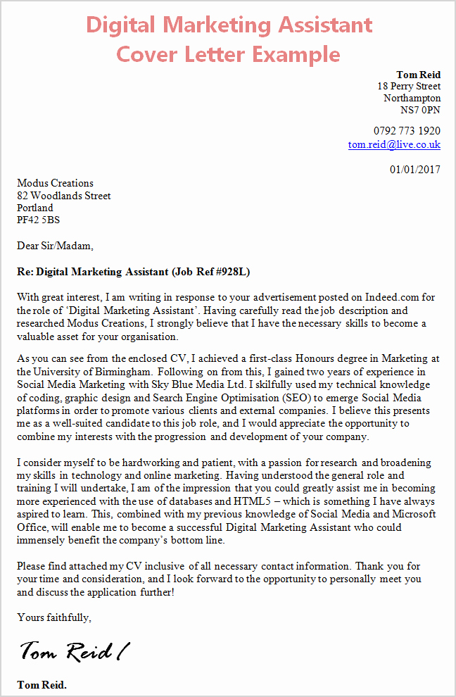Sample Cover Letters Marketing Awesome Cover Letter Template Digital Marketing Cover