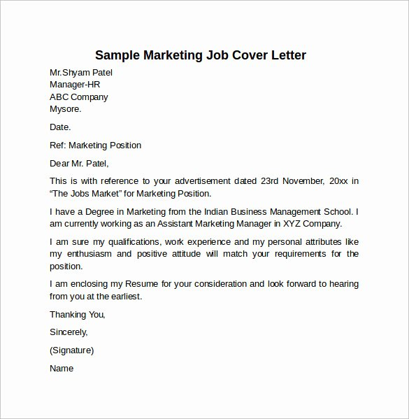 Sample Cover Letters Marketing Luxury Cover Letter Example for Job 10 Download Free Documents
