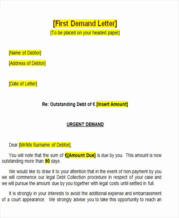 Sample Demand for Payment Letter Unique 39 Demand Letter Samples Pdf Google Docs Apple Pages