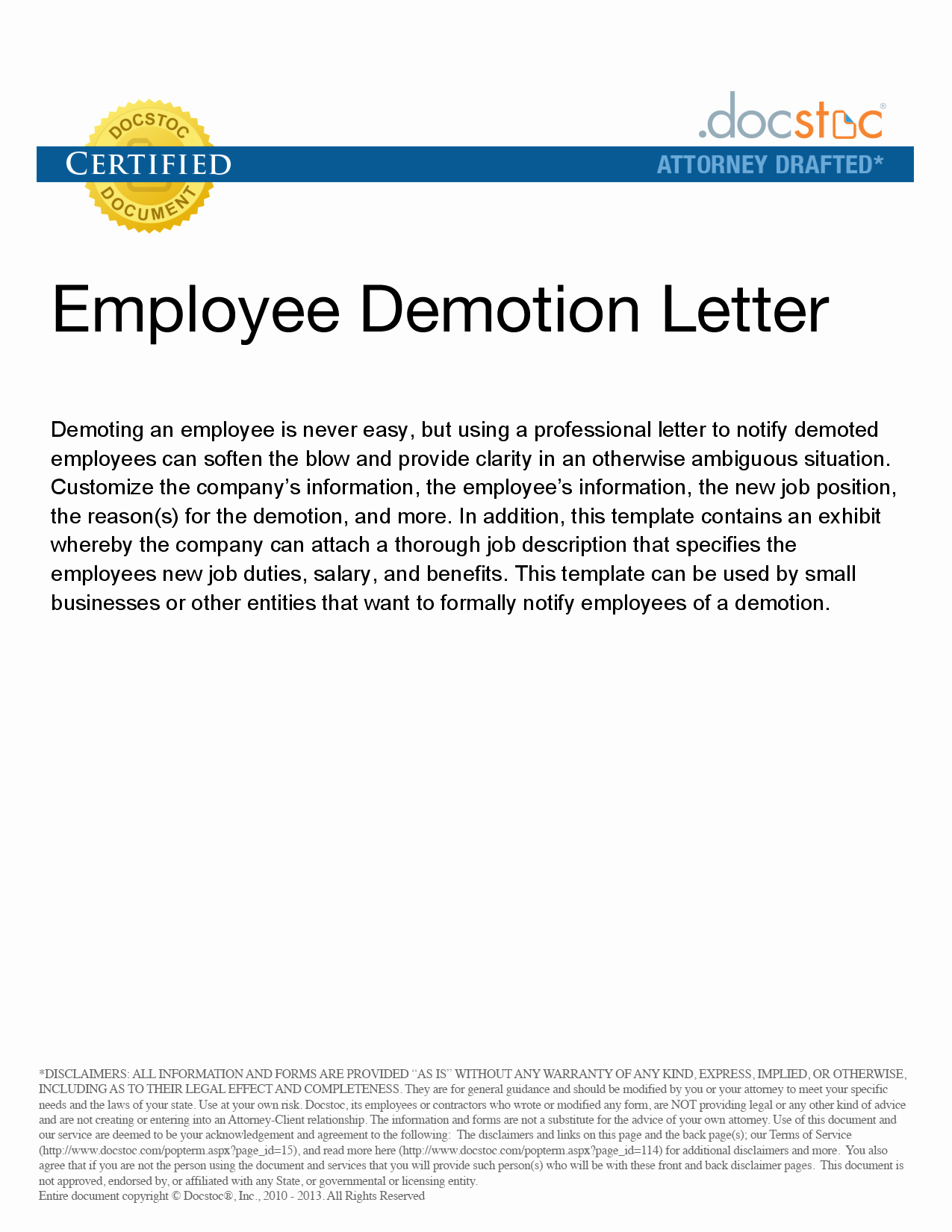 Sample Demotion Letter to Employee Best Of Sample Letter Of Demotion Of Position