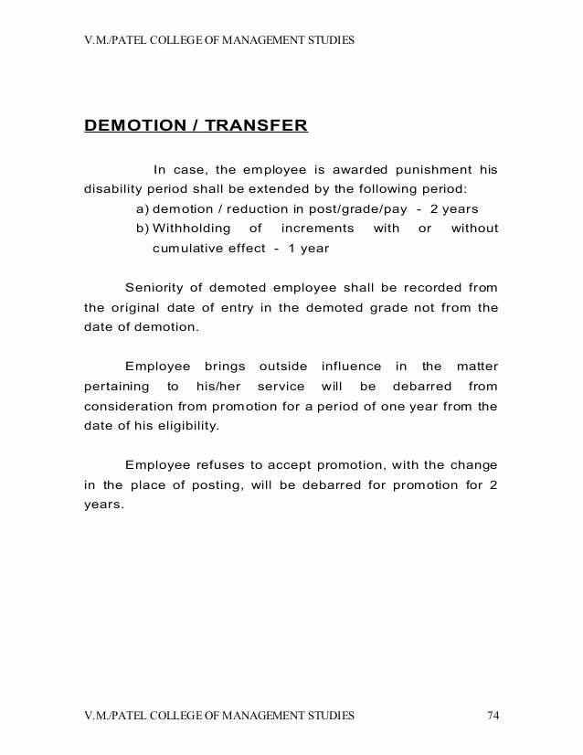 Sample Demotion Letter to Employee Best Of Voluntary Demotion Letter Employee